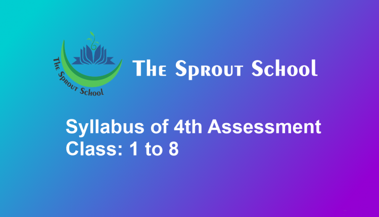 Syllabus of 4th Assessment Class 1 to 8