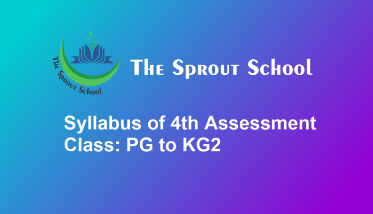 Syllabus of 4th Assessment for Class PG to KG2