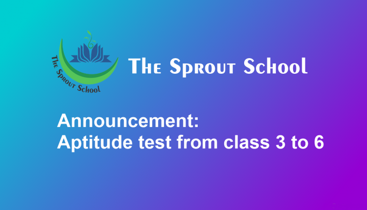 aptitude test from class three to six